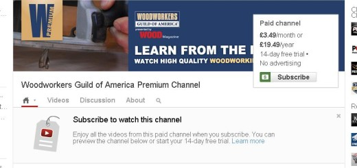 YouTube paid channel example