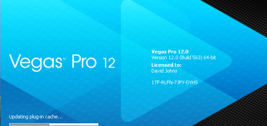 Sony Vegas Pro 12 splash screen