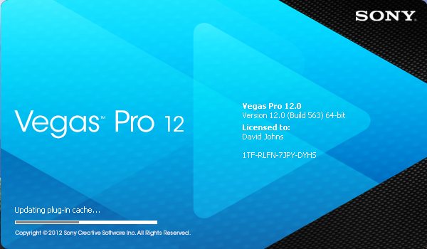 Sony Vegas Pro 12 splash screen