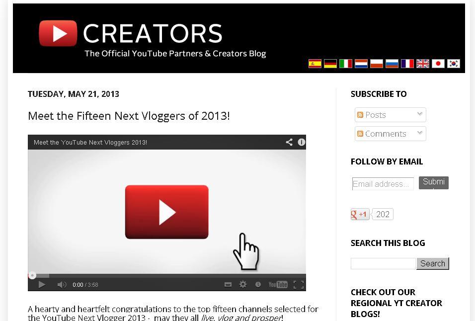 YouTube Next Vloggers
