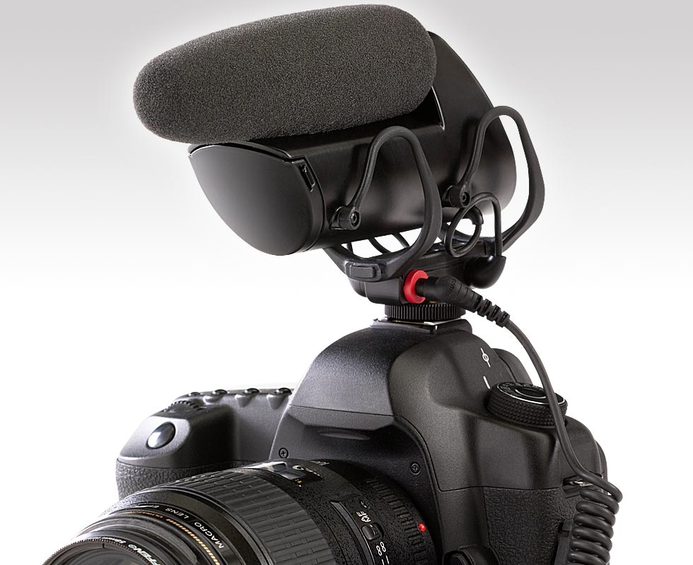 Shure VP83F mounted on DSLR