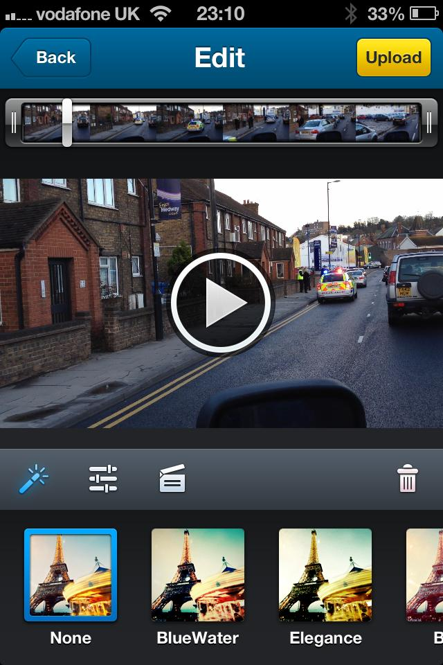 Dailymotion Camera App: image effects