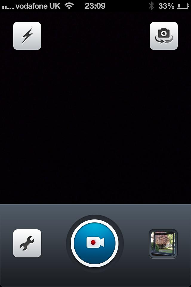 Dailymotion Camera App: main record screen