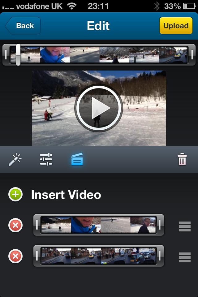 Dailymotion Camera App: playlist