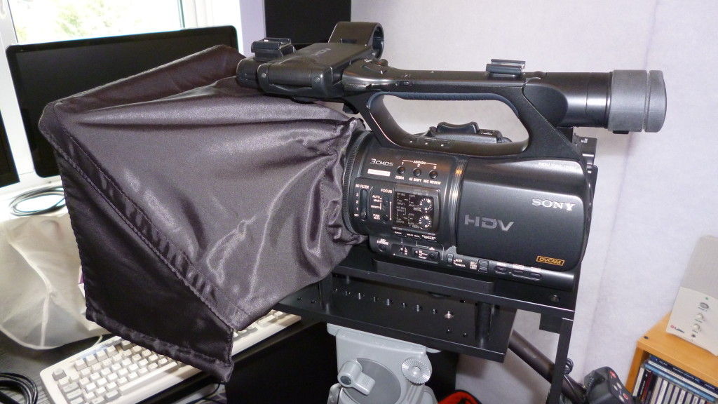 Datavideo TP300 - camera with hood on