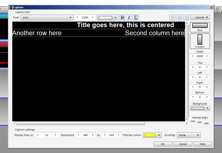 VideoMeld Title tool