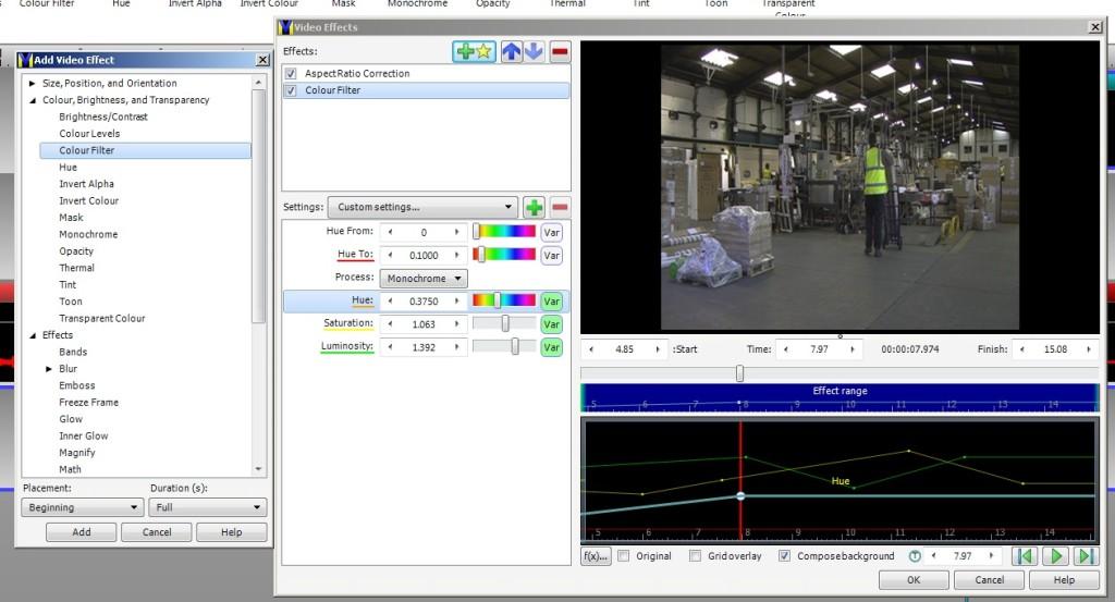 VideoMeld effects window