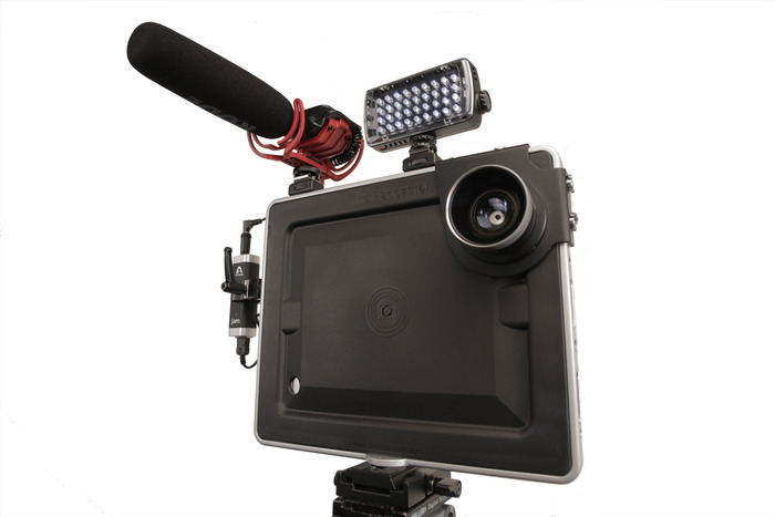 The Padcaster With Gadgets Attached