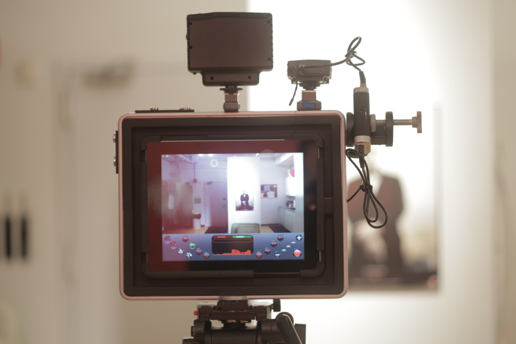 The Padcaster seem from behind the camera
