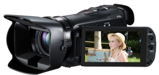 Canon HF-G25 with screen flipped