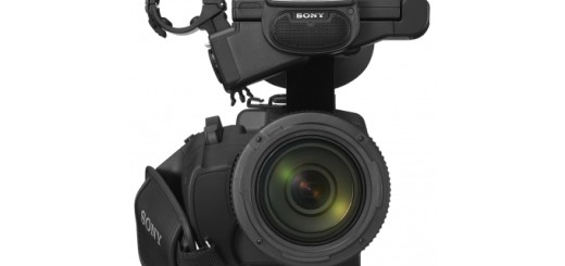 Sony NX3 camcorder from the front