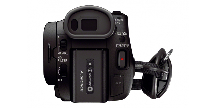 Sony AX100 back view