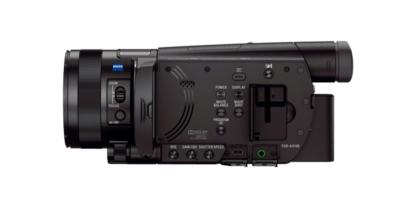 Sony AX100 internal sockets