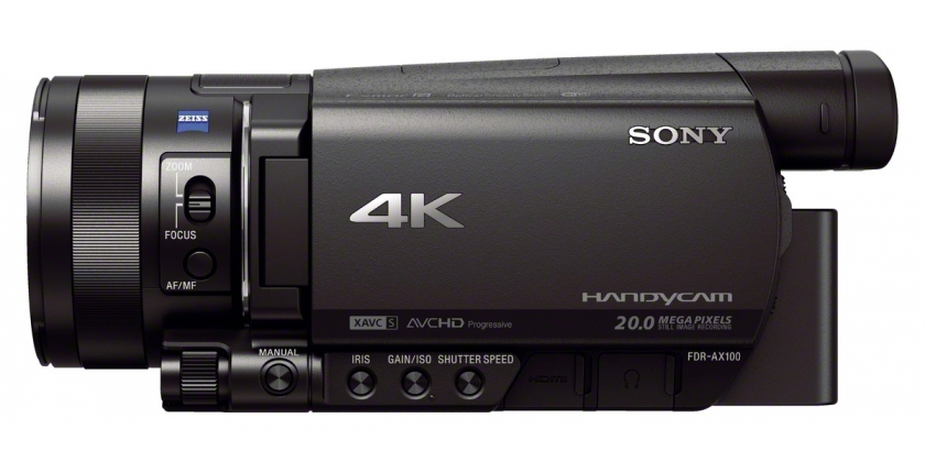 Sony AX100 side view