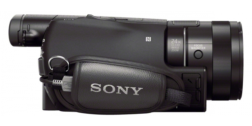 Sony CX900 from strap side