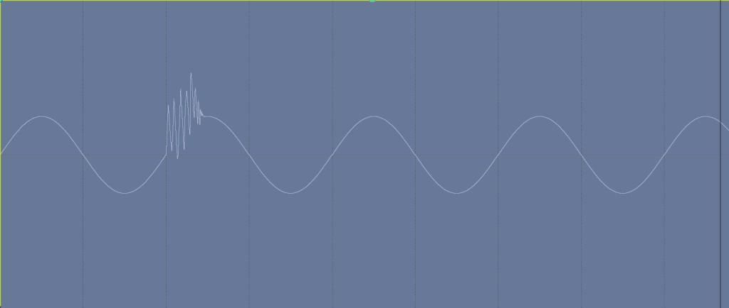Sine wave with glitch