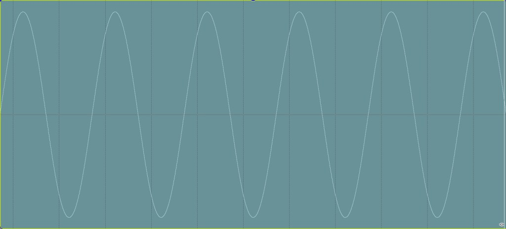 Sine wave debalanced minus glitch