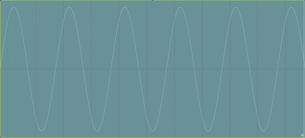 Sine wave debalanced minus glitch