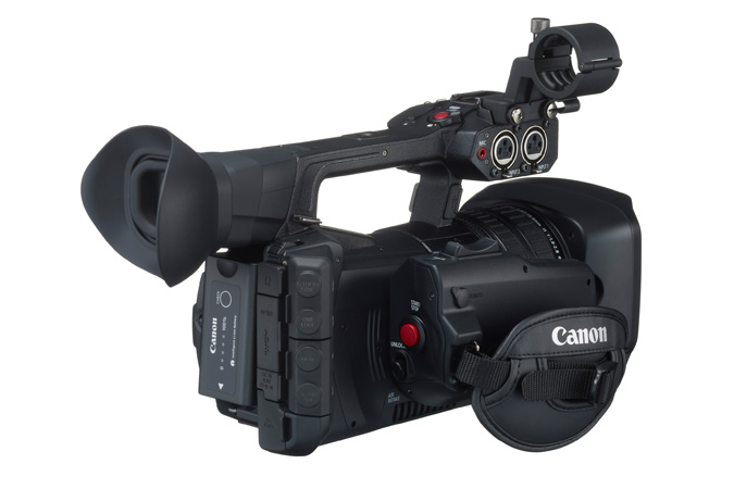 Canon XF205 from back - side