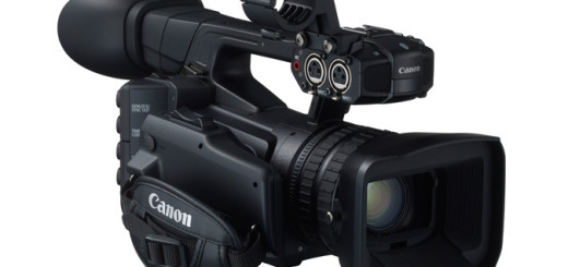Canon XF205 from front strap side