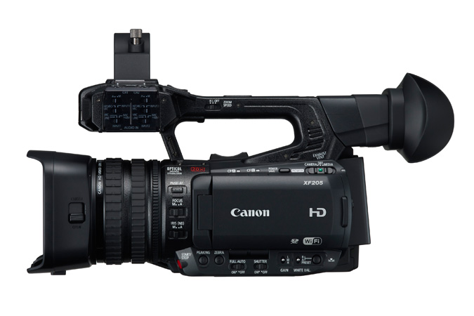 Canon XF205 from screen side
