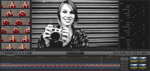 HitFilm Plugins in FCP X- B&W Grunge