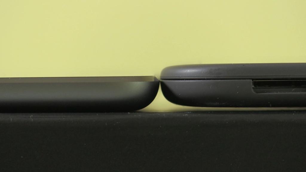 Hudl 2 vs iPad mini height
