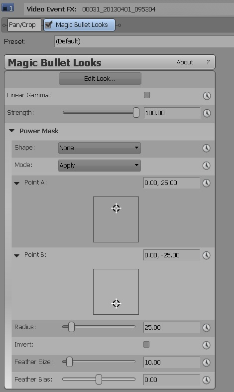 Magic Bullet Looks 2.5 OFX controls