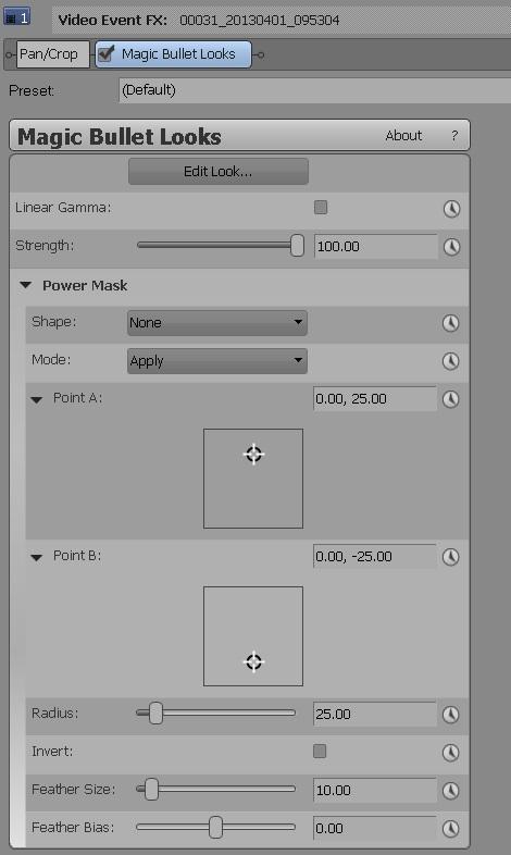 Magic Bullet Looks 2.5 OFX controls