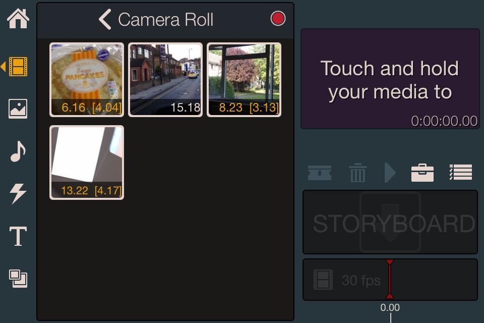 Pinnacle Studio - adding footage to timeline