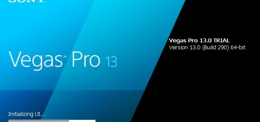 Sony Vegas Pro 13 startup screen