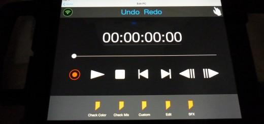 Sony Vegas Pro iPad Connect icon control screen