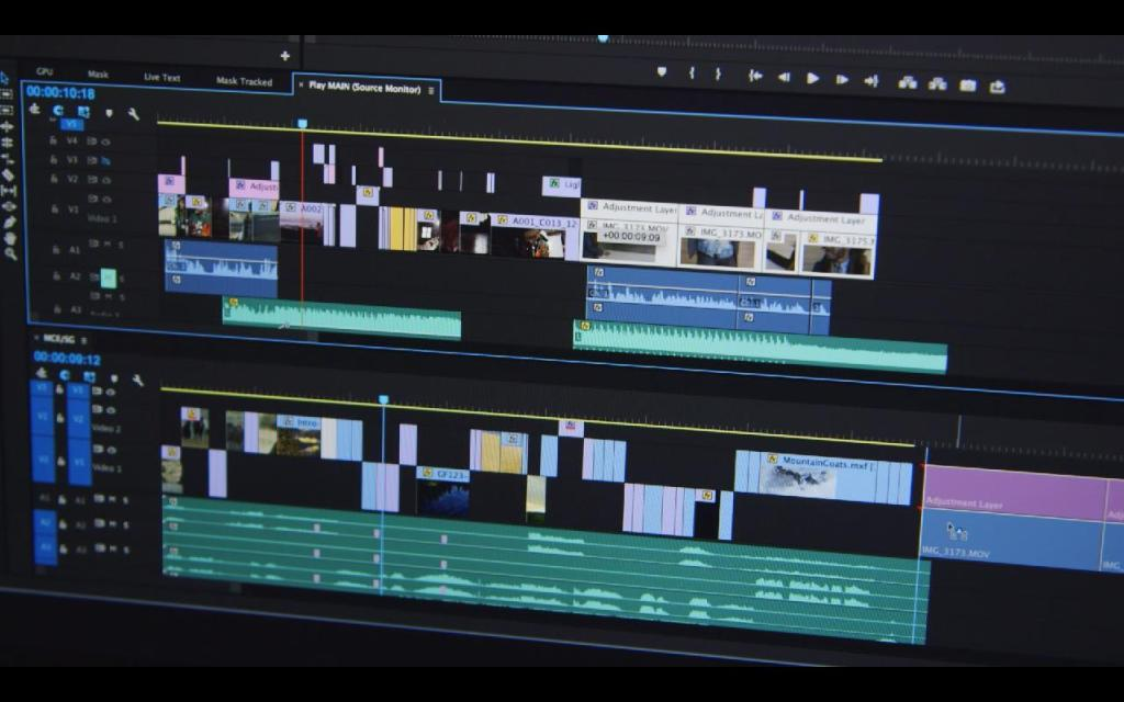Adobe Premiere Pro dual timeline view
