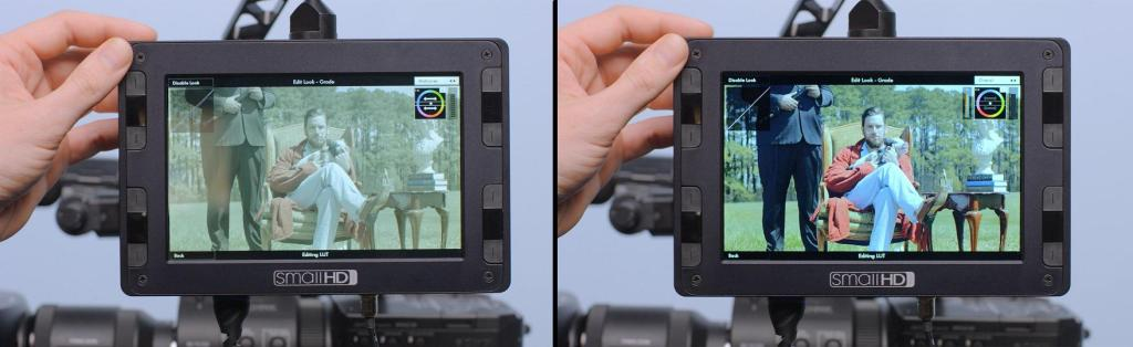 SmallHD DP7 PRO with built-in colour grading