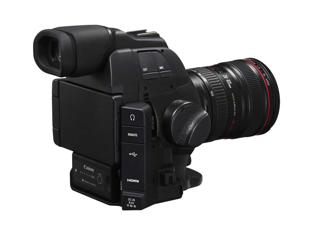 Canon C100 MkII rear connectors