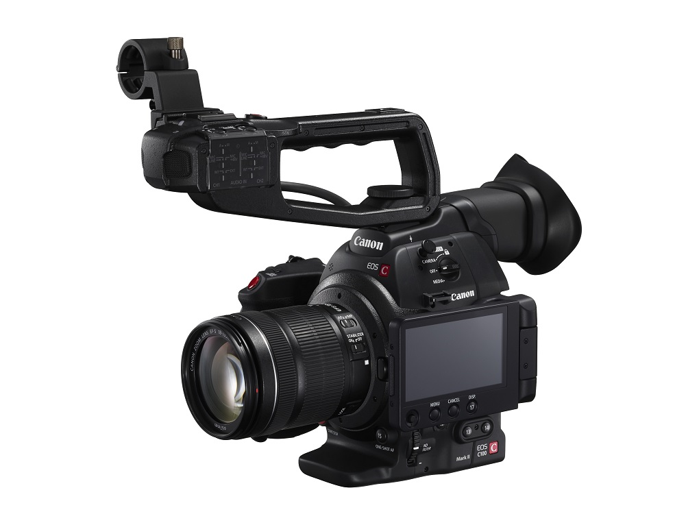 Canon C100 MkII with OLED screen on side