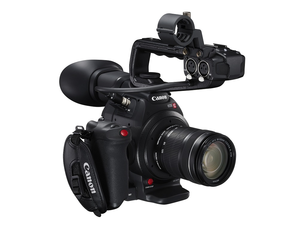 Canon C100 MkII with XLR audio handle