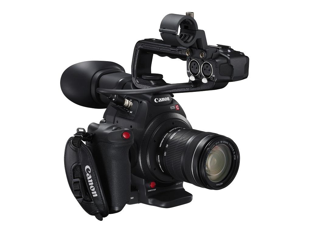 Canon C100 MkII with XLR audio handle