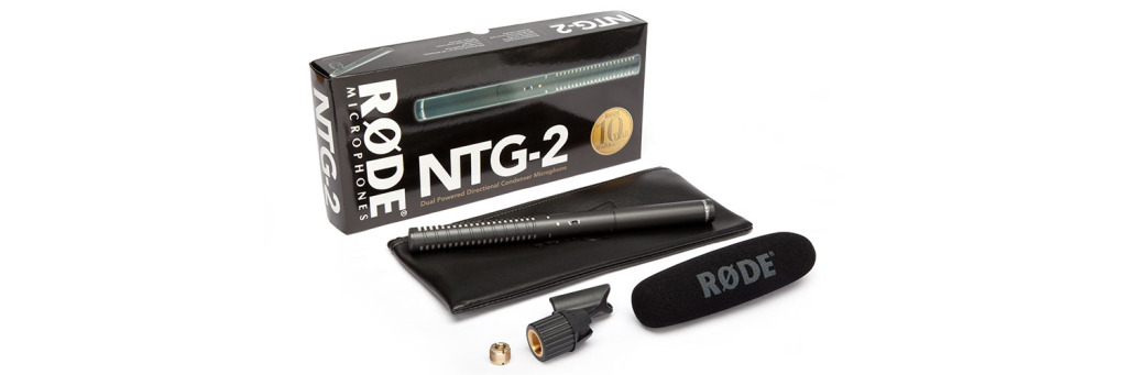 Rode NTG2 box contents