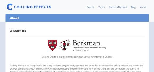 ChillingEffects website