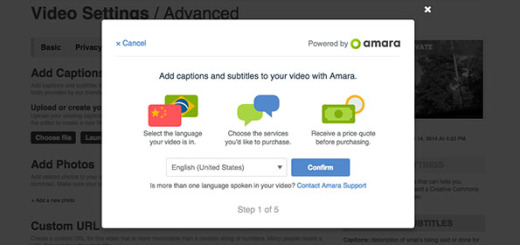 Vimeo's Amara subtitling option