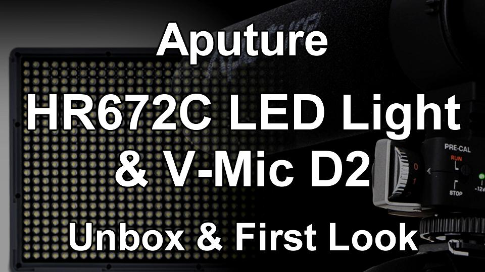 Aputure HR672C & VMicD2