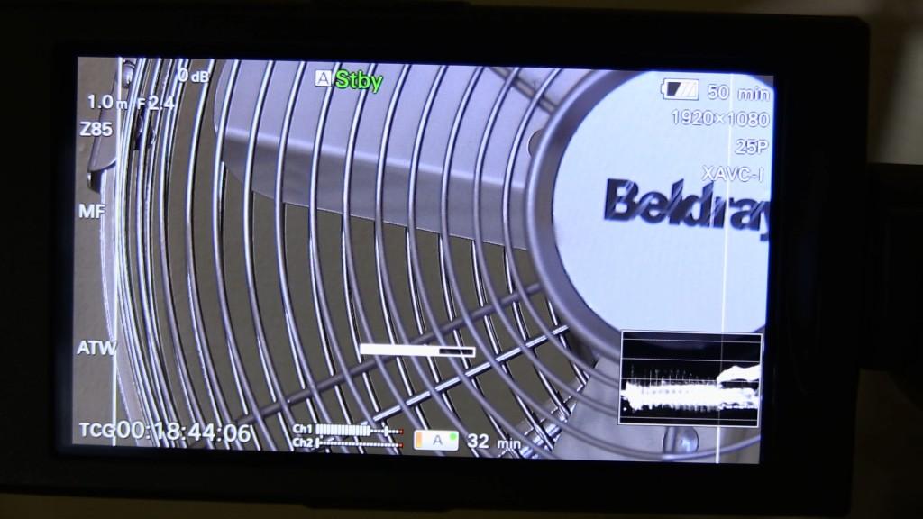 Sony PXW-X180 focus assist bar