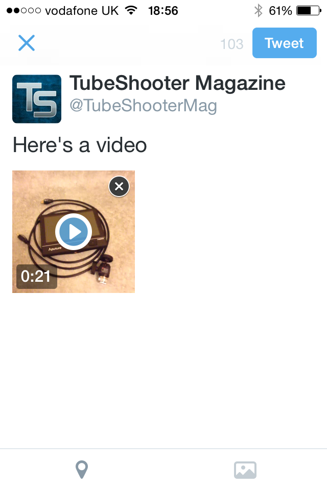 Twitter Video - Tweet with video added