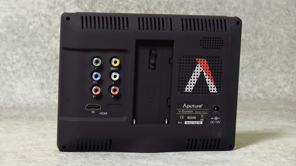 Aputure VS-2 back panel
