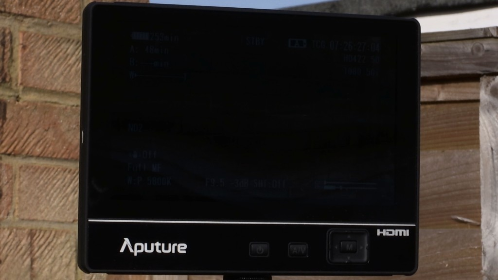 Aputure VS-2 in sunlight