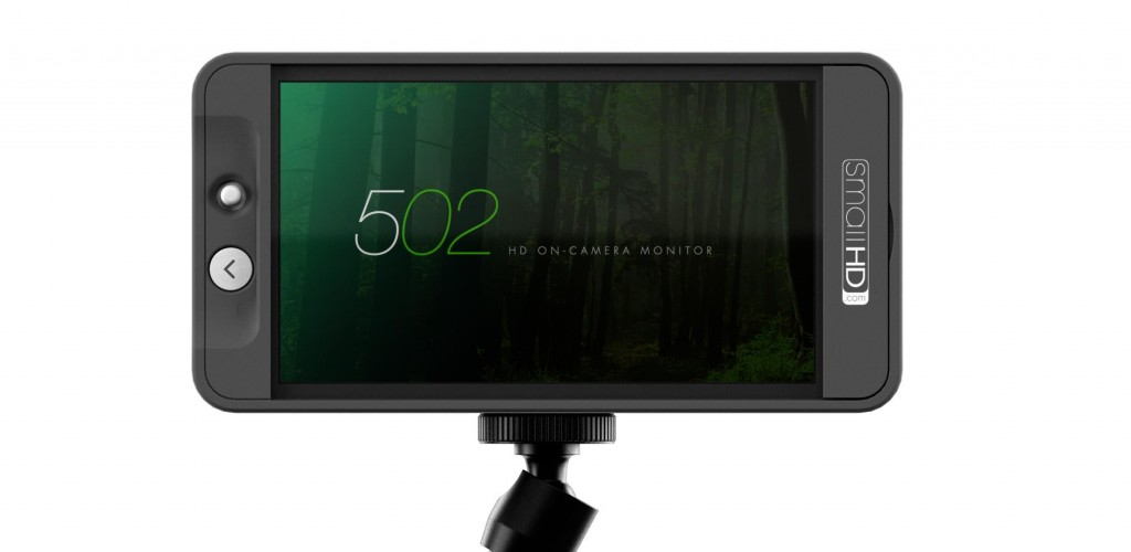 "SmallHD ""502"" 5 inch monitor on flexible arm"