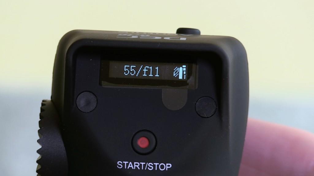 Aputure DEC OLED display on handgrip