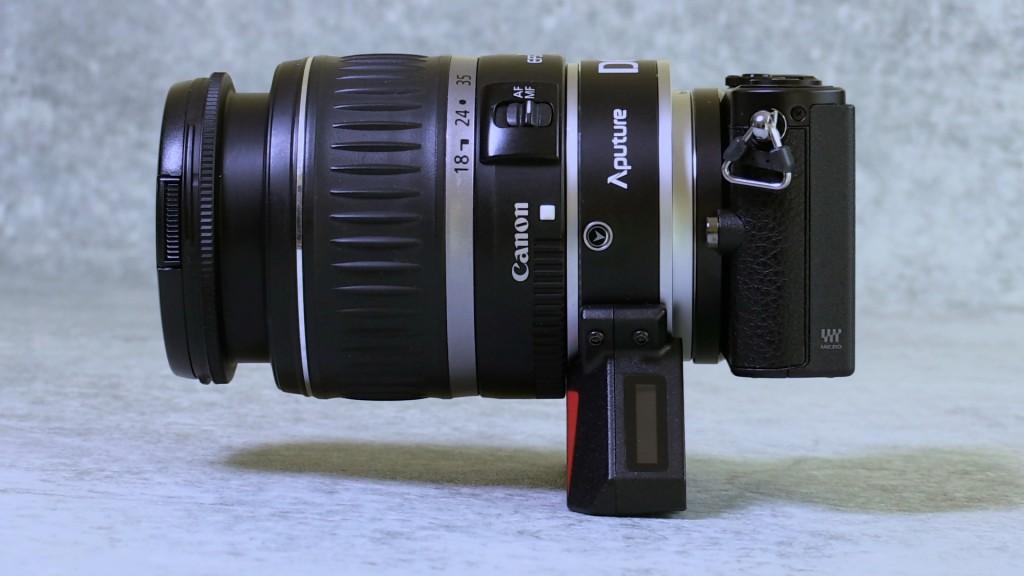 Aputure DEC on camera