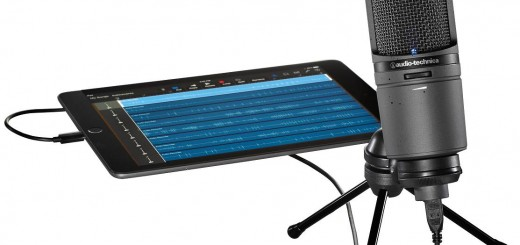 Audio Technica AT2020USBi with tablet